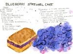 Blueberry Streusel Cake