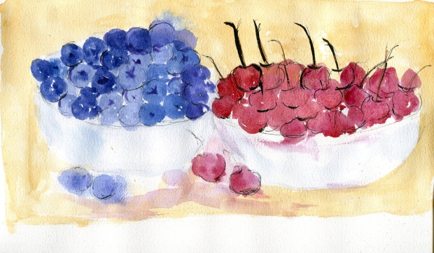 one watercolor day-food